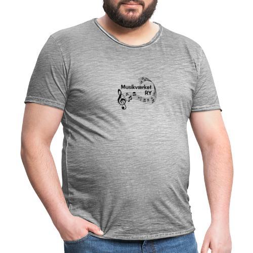 Musikværket Ry (sort tryk) - Herre vintage T-shirt