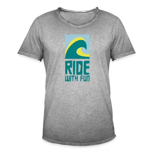 Ride with fun Logo - Männer Vintage T-Shirt