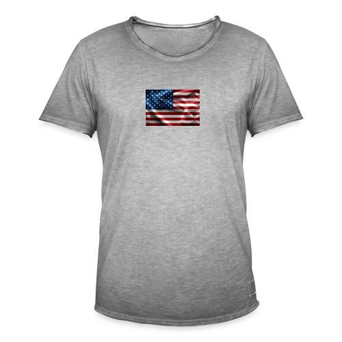 amerikaanse vlag - Mannen Vintage T-shirt