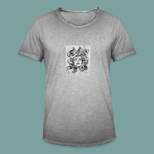 MEDUSV - Maglietta vintage da uomo