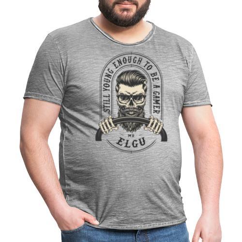 MrElgu Logo DARK - T-shirt vintage Homme