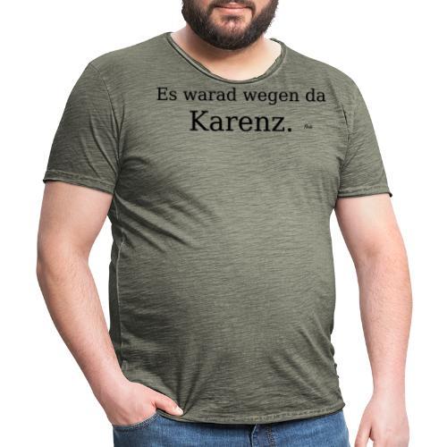 Karenz - Männer Vintage T-Shirt