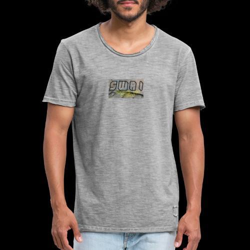 swai stoned boxlogo - Männer Vintage T-Shirt