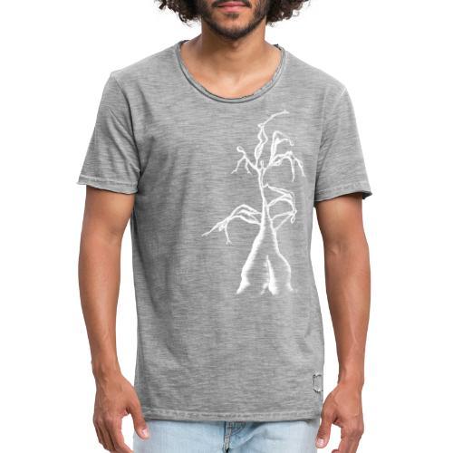 Die Zerrissenheit in weiß - Männer Vintage T-Shirt
