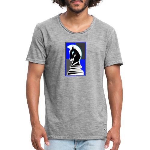 cavallo Scacchi Vers 2 Colori Invertiti - Maglietta vintage da uomo