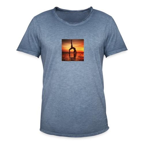 pet yoga - Mannen Vintage T-shirt