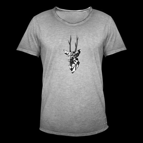 Polygoon Hert - Mannen Vintage T-shirt