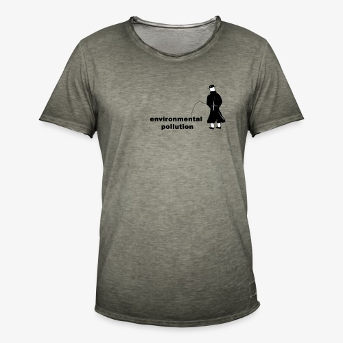 Pissing Man against Environmental Pollution - Männer Vintage T-Shirt
