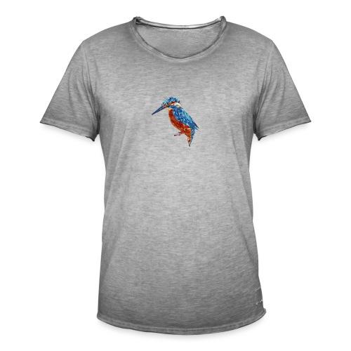 Eisvogel illustriert - Männer Vintage T-Shirt