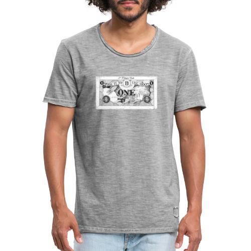 Maglietta Banconota Bitcoin 1 - Maglietta vintage da uomo