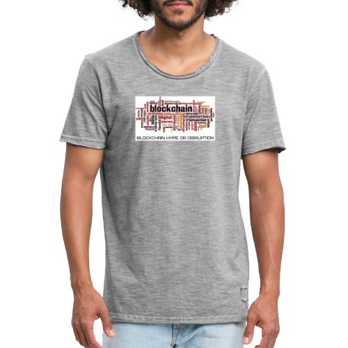 Maglietta Blockchain - Maglietta vintage da uomo