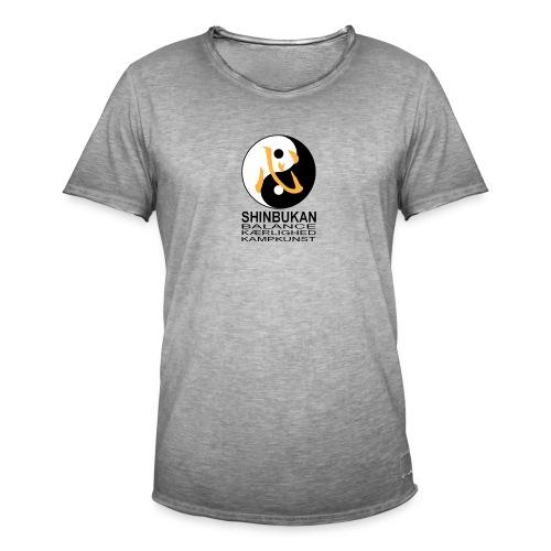 Shinbukan Tai Chi symbol og tegnet Kokoro - Herre vintage T-shirt