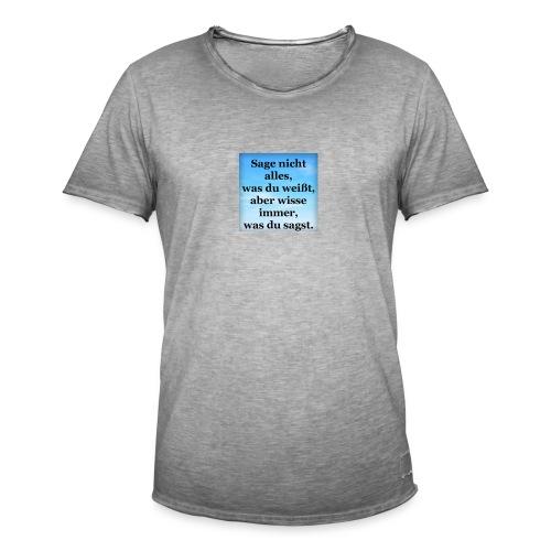 wissen - Männer Vintage T-Shirt