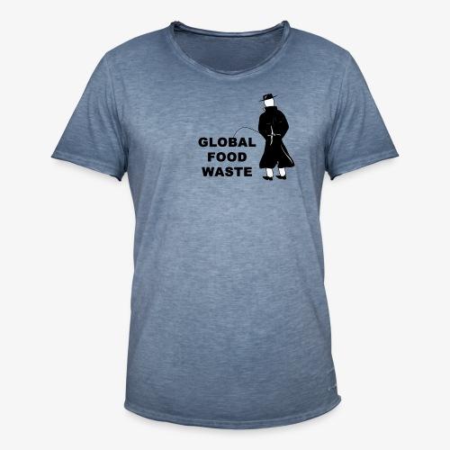 Pissing Man against Global Food Waste - Männer Vintage T-Shirt