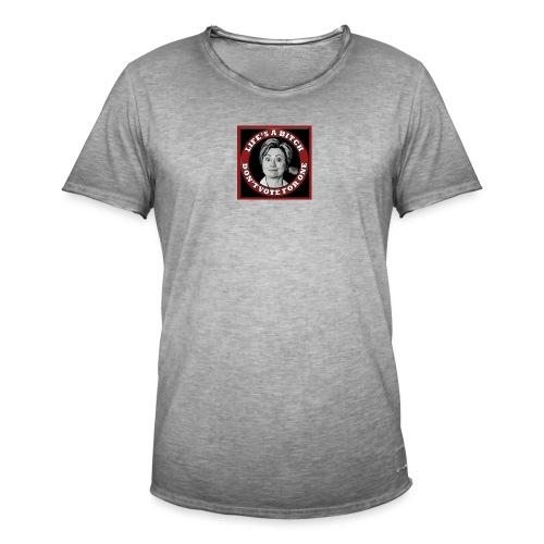 Don't Vote Hilary - Men's Vintage T-Shirt