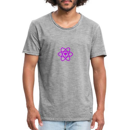 sketch2react logo purple - Men's Vintage T-Shirt