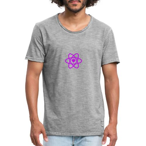 sketch2react logo purple - Vintage-T-shirt herr