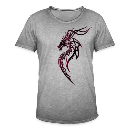 Fantasy Drache im Tattoo und Tribal Style - Männer Vintage T-Shirt