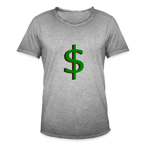 dollar - Mannen Vintage T-shirt