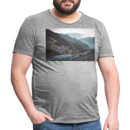 Stelvio 2757m - Männer Vintage T-Shirt