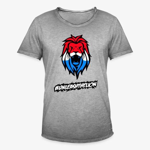 UnleashTheLion - Mannen Vintage T-shirt