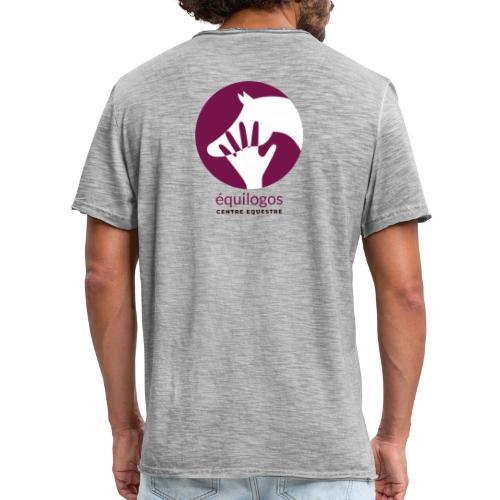 Logo Equilogos centre équestre noir - T-shirt vintage Homme