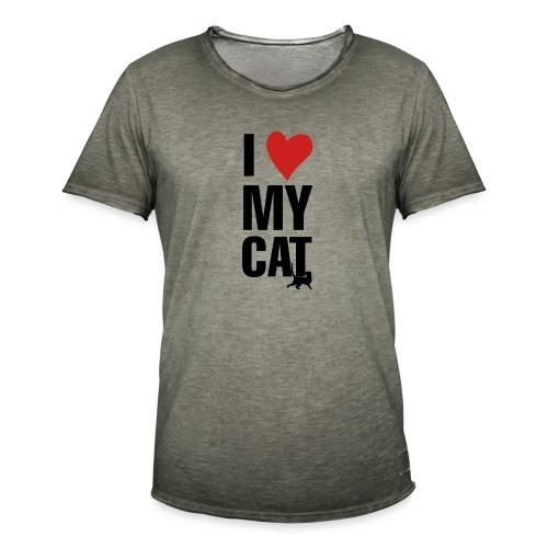 I_LOVE_MY_CAT-png - Camiseta vintage hombre