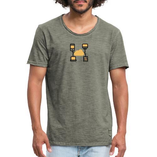 Servicio de nube - Camiseta vintage hombre
