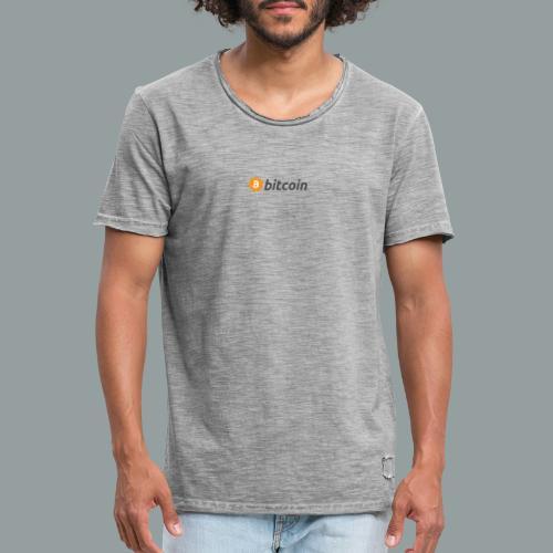 Bitcoin Logo #BTC - Camiseta vintage hombre