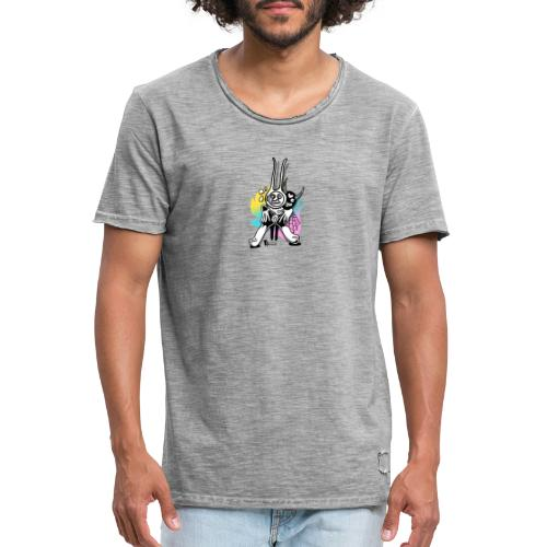 Teufel (Blackcat) - Männer Vintage T-Shirt