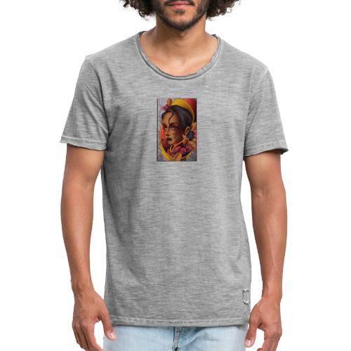 Dama antigua - Camiseta vintage hombre
