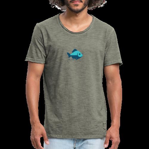 Fisch Ahoi - Männer Vintage T-Shirt