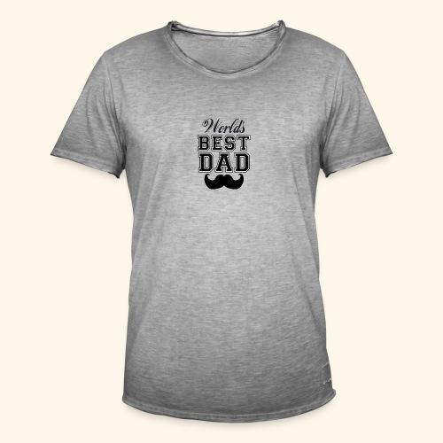 Worlds best dad - Herre vintage T-shirt