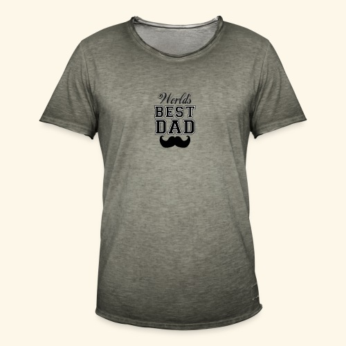 Worlds best dad - Herre vintage T-shirt