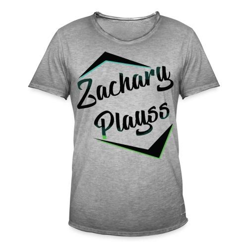 Logo ZacharyPlayss - Mannen Vintage T-shirt
