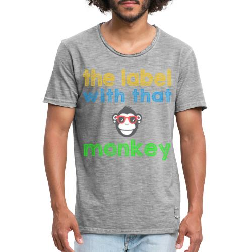 the label with that monkey - Männer Vintage T-Shirt