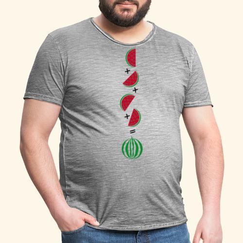 Un cuarto de sandía - Camiseta vintage hombre