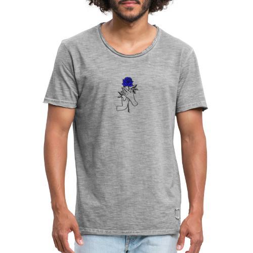 Fiore blu - Maglietta vintage da uomo