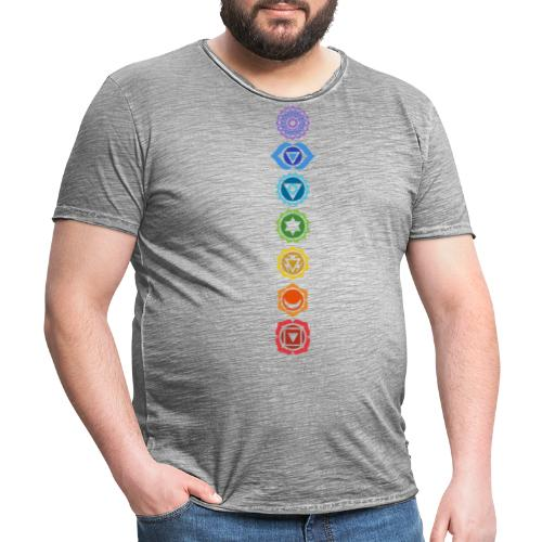 The 7 Chakras, Energy Centres Of The Body - Men's Vintage T-Shirt