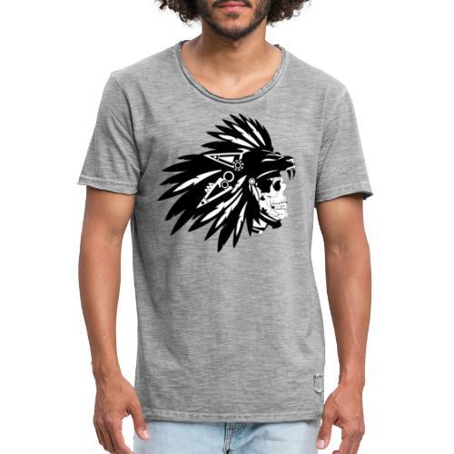 Indianer Totenkopf - Männer Vintage T-Shirt