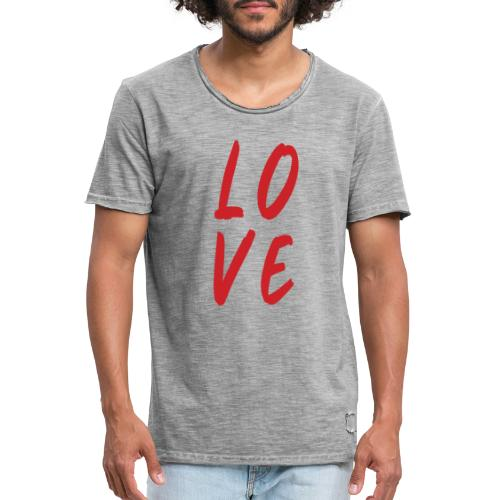 love - Maglietta vintage da uomo