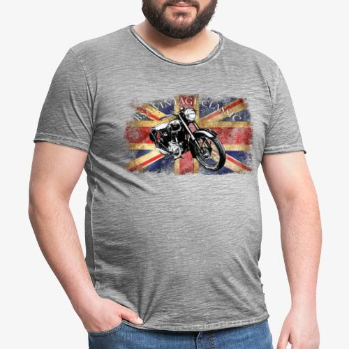 Vintage famous Brittish BSA motorcycle icon - Men's Vintage T-Shirt