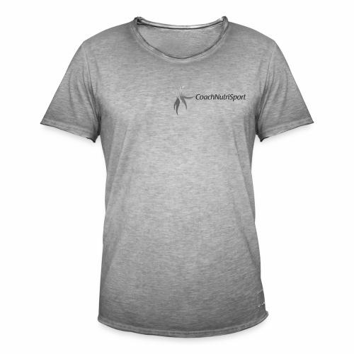 Logo Coachnutrisport en noir - T-shirt vintage Homme