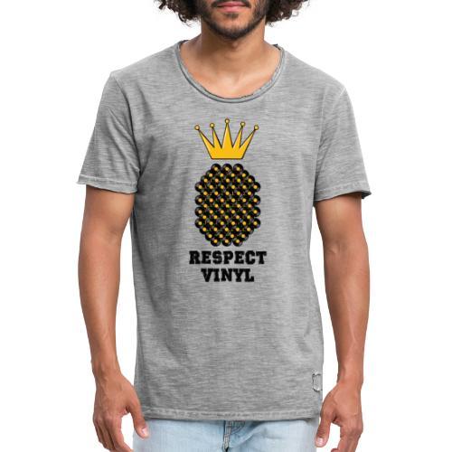 Kings & Queens • Respect Vinyl - Männer Vintage T-Shirt