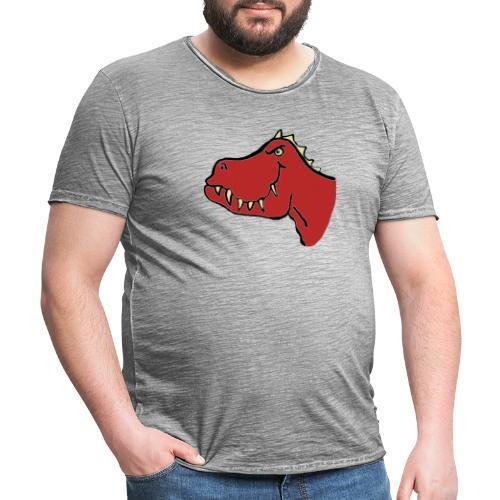T Rex, Red Dragon - Men's Vintage T-Shirt