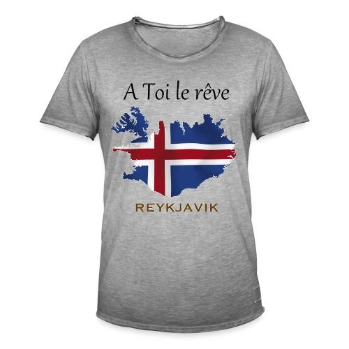 Collection A Toi Le Rêve - Islande - T-shirt vintage Homme