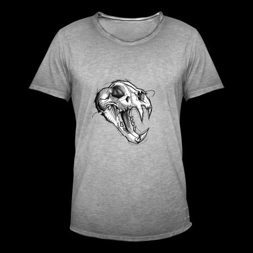Teschio Tigre - Maglietta vintage da uomo