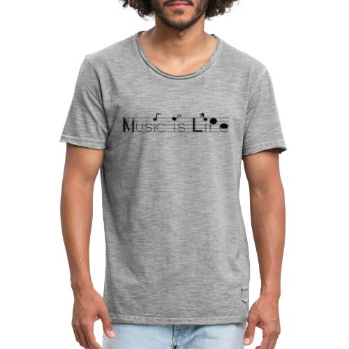 music is life - T-shirt vintage Homme
