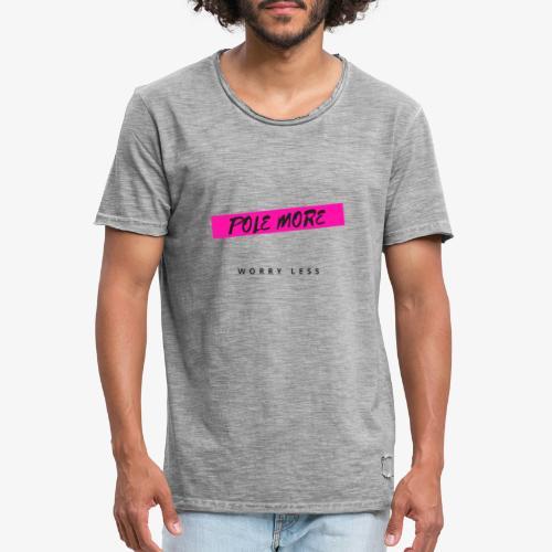 POLE MORE - Maglietta vintage da uomo