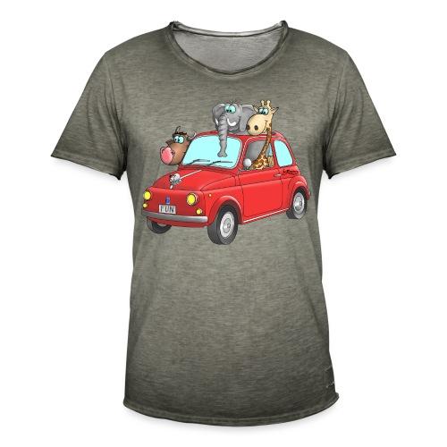 Giraffe - Elefant - Bulle im Auto Kinder - Männer Vintage T-Shirt
